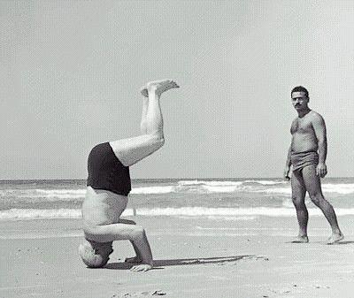 Ben Gurion headstand